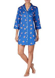 Lauren Ralph Lauren Woven Cotton Sleep Shirt