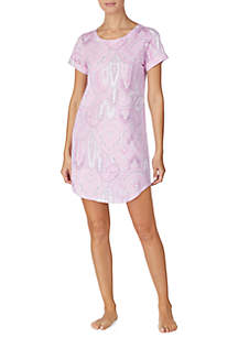 Lauren Ralph Lauren Knit Roll Cuff Sleep Shirt