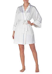 Satin Kimono Short Wrap Robe