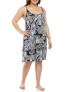 Lauren Ralph Lauren Plus Size Double Strap Chemise