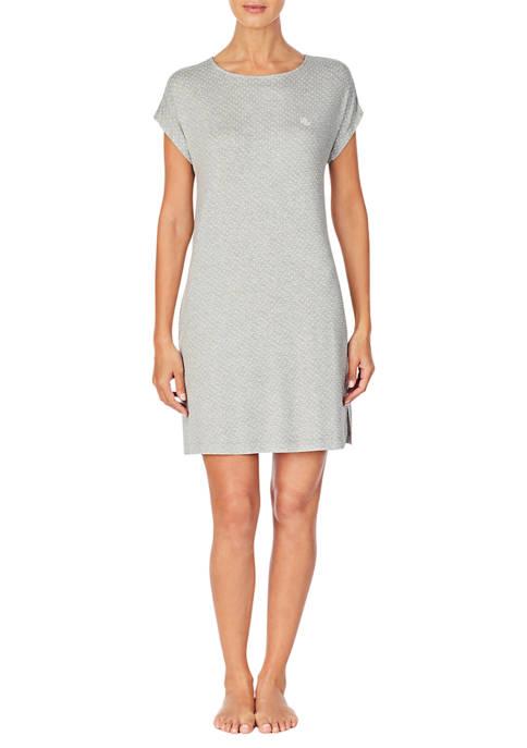 Lauren Ralph Lauren Short Sleeve Short Dot Nightgown