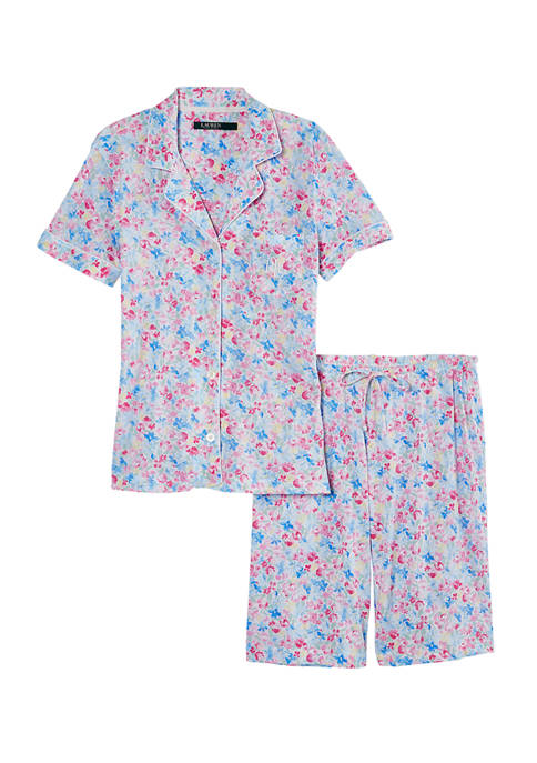 Lauren Ralph Lauren Notch Neck Bermuda Shorts Pajama