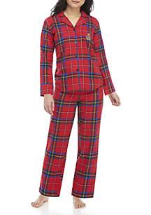 Petitie 2-Piece Brushed Twill Pajama Set