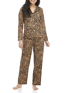 Petite 2-Piece Sateen Pajama Set