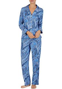 03943b52ee ... Lauren Ralph Lauren 2-Piece Sateen Pajama Set