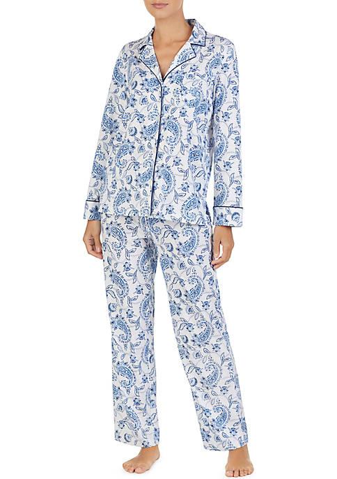 Lauren Ralph Lauren 2-Piece Classic Knit Pajama Set