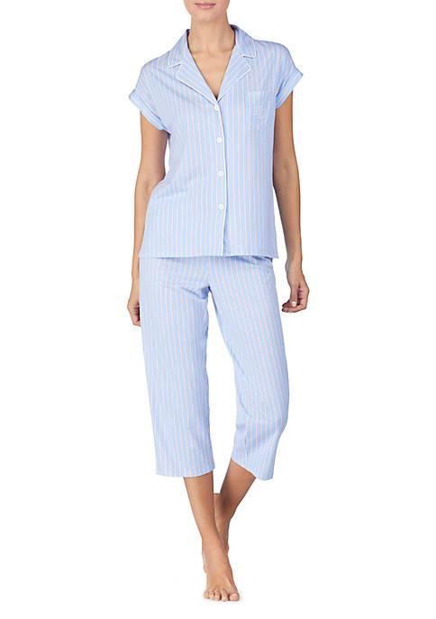 Lauren Ralph Lauren 2 Piece Capris Pajama Set