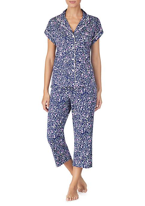 Lauren Ralph Lauren 2-Piece Notch Capri Pajama Set