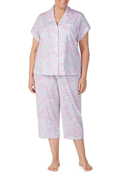 Lauren Ralph Lauren Plus Size Short Dolman Sleeve