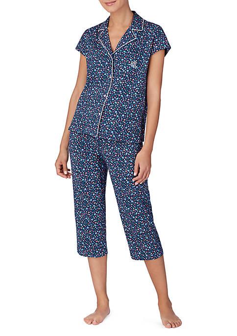 Lauren Ralph Lauren Cotton Dolman Sleeve Capri Pajamas