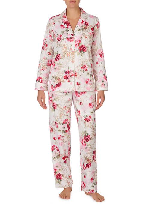 Lauren Ralph Lauren 2 Piece Sateen Pajama Set