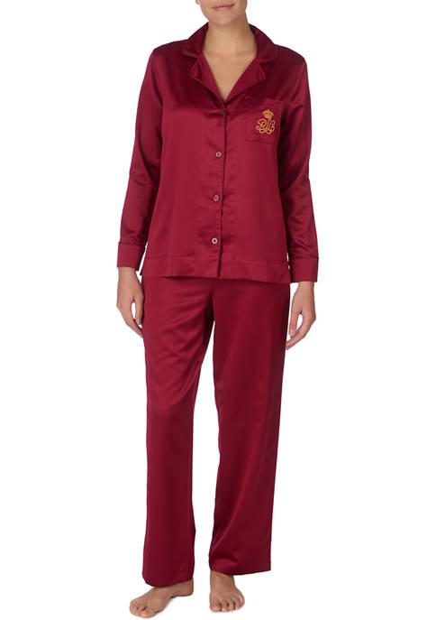 2 Piece Satin Pajama Set