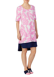 Ellen Tracy Short Sleeve Sleepshirt with Socks