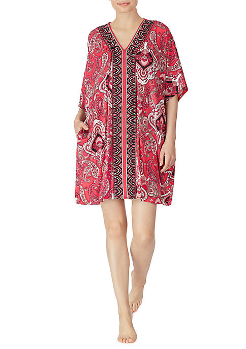 Ellen Tracy Womens Short Caftan