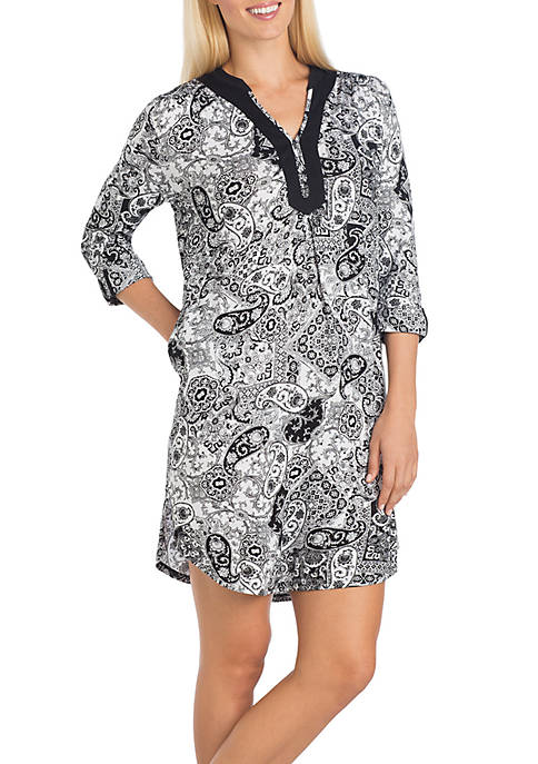 Ellen Tracy Short Printed Tunic