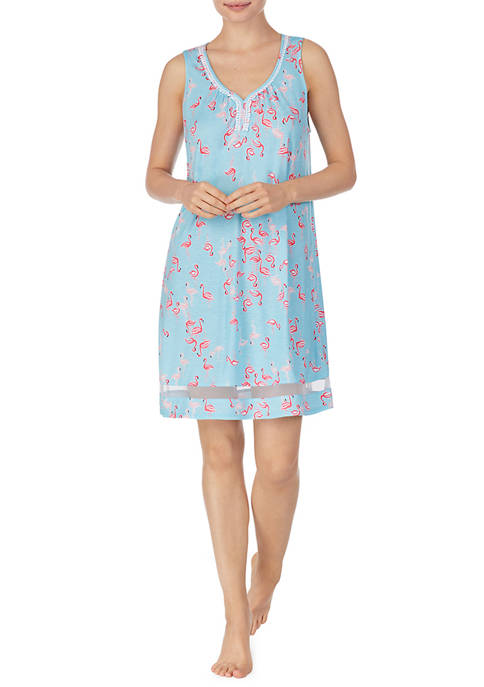 Ellen Tracy Flamingo Sleeveless Chemise