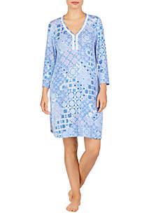 Ellen Tracy 3/4 Sleeve Sleep Tunic