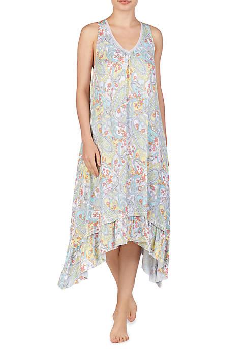 Midi Sleep Gown with Shelf Bra