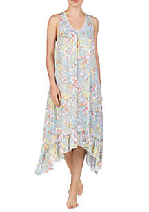 Ellen Tracy Midi Sleep Gown with Shelf Bra