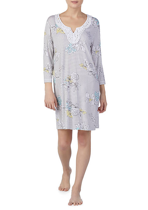 Ellen Tracy 3/4 Sleeve Short Sleep Tunic