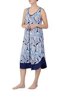 Ellen Tracy Sleeveless Midi Nightgown