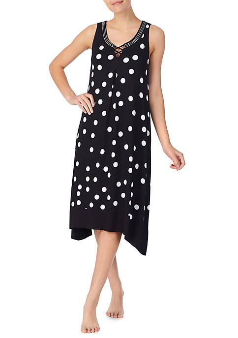 Ellen Tracy Scoop Neck Nightgown