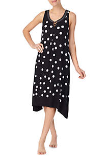 Ellen Tracy Scoop Neck Nightgown