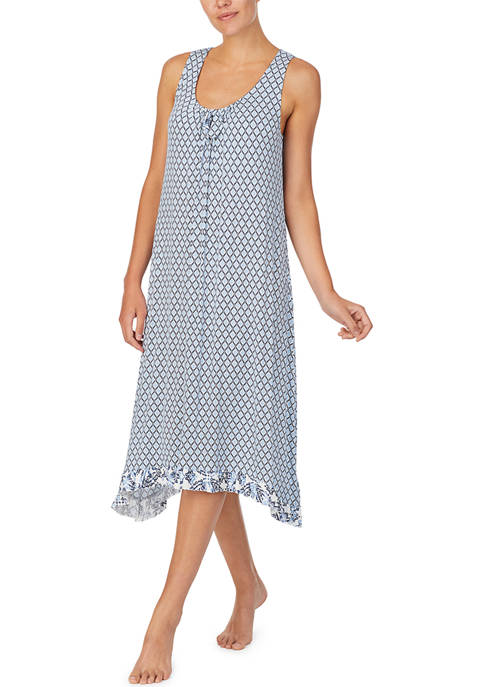 Ellen Tracy Sleeveless Knit Midi Sleep Gown