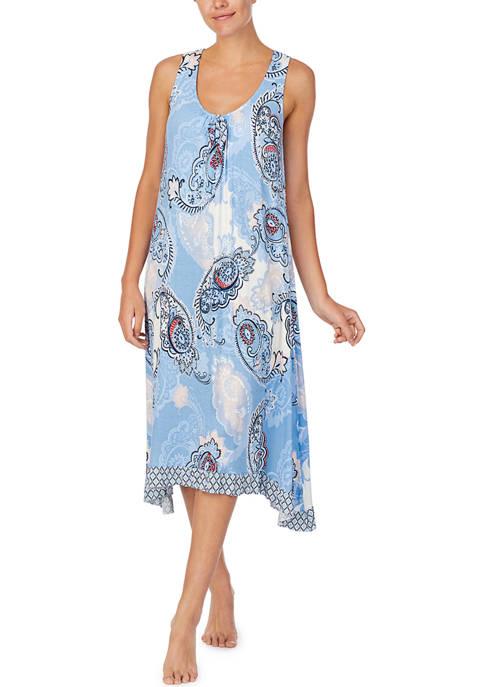 Sleeveless Knit Midi Sleep Gown