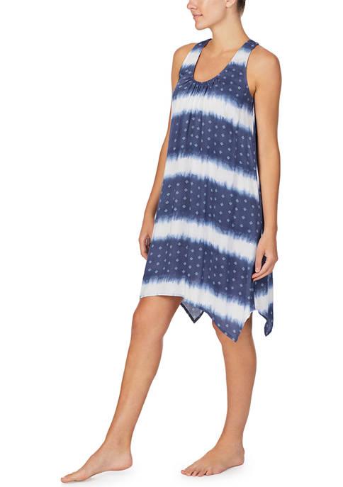 Sleeveless Short Woven Sleep Gown