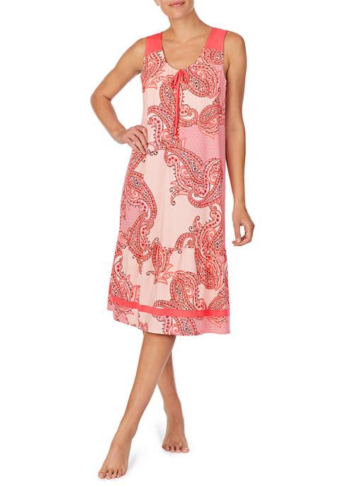 Ellen Tracy Midi Night Gown with Soft Bra