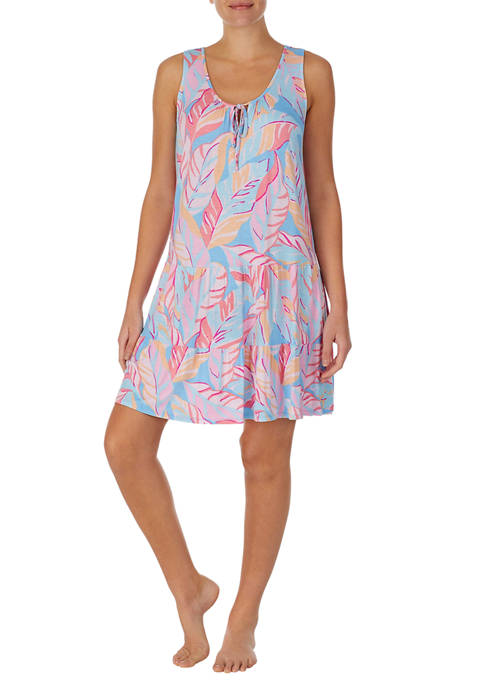 Ellen Tracy Sleeveless Short Tiered Chemise