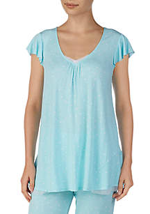 Ellen Tracy Short Sleeve Pajama Top