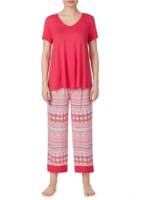 Crop Pajama Set