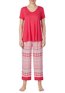 Ellen Tracy Crop Pajama Set