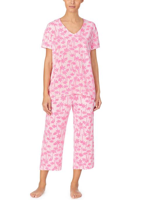 Ellen Tracy Short Sleeve Palm Sleep Top
