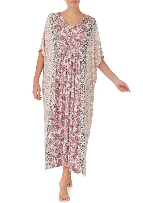 Short Sleeve Floral Caftan