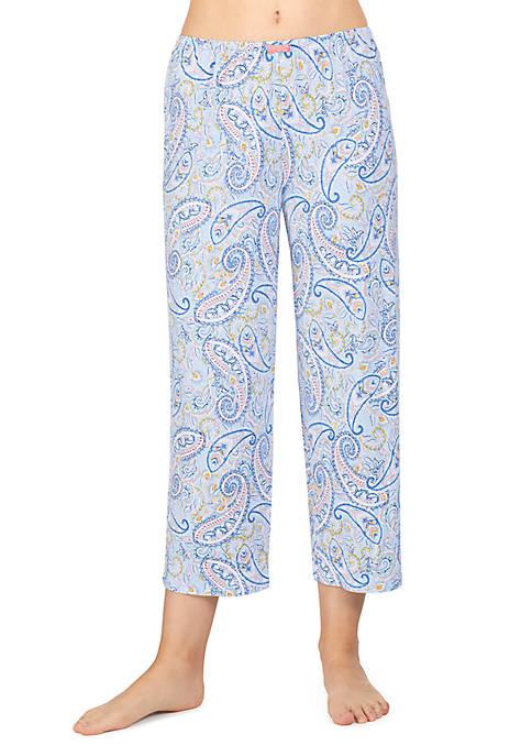 Ellen Tracy Cropped Sleep Pants