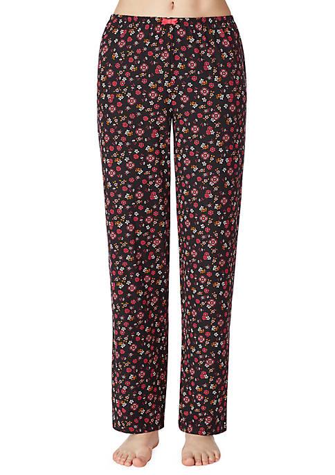 Ellen Tracy Womens Printed Sleep Pants