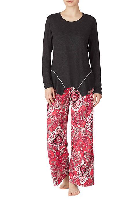 Ellen Tracy Womens 2 Piece Pajama Set