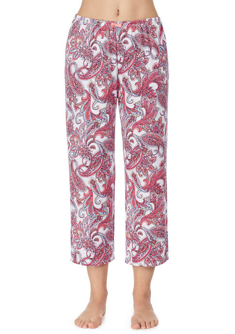 Ellen Tracy Crop Paisley Pajama Pants