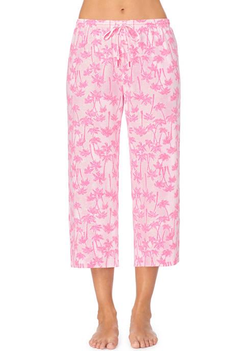 Ellen Tracy Cropped Palm Sleep Pants