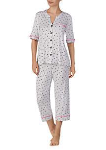 Ellen Tracy Cropped Pant PJ Set
