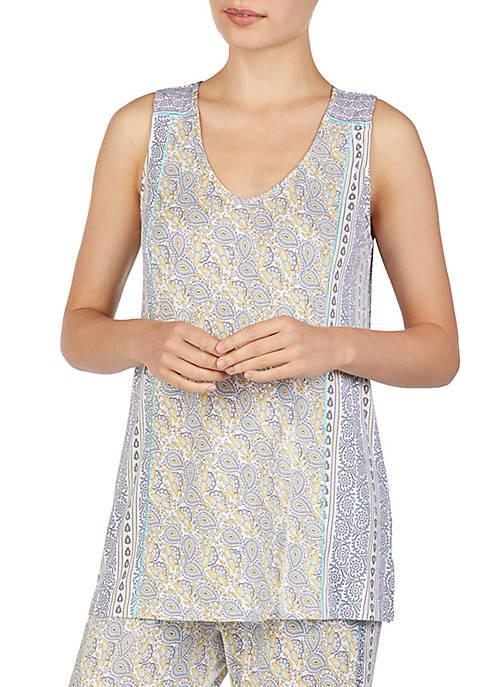 Ellen Tracy Sleeveless Pajama Tunic Top