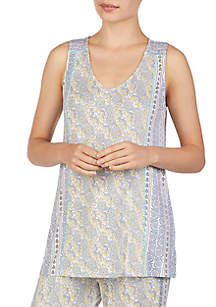Ellen Tracy Sleeveless Pajama Tunic Top