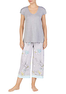Ellen Tracy 2 Piece High Low Top Pajama Set