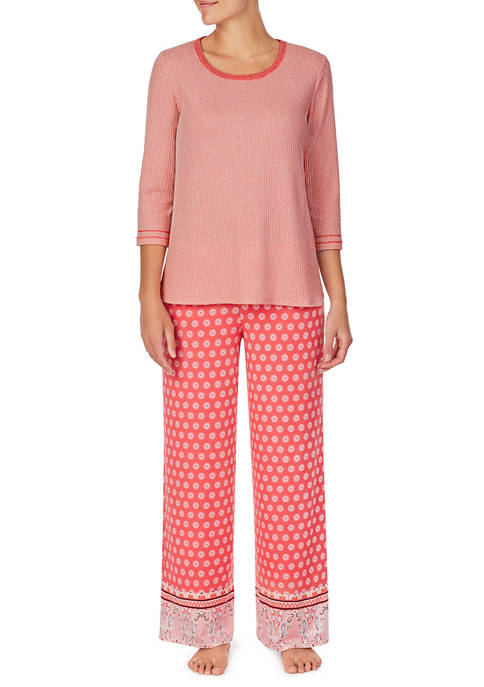 Ellen Tracy 2 Piece Top and Palazzo Pajama