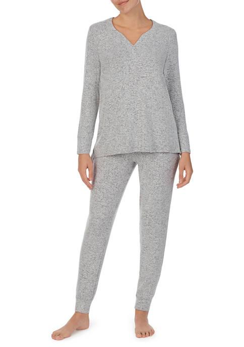 Ellen Tracy Cozy Heather Jogger Pajama Set