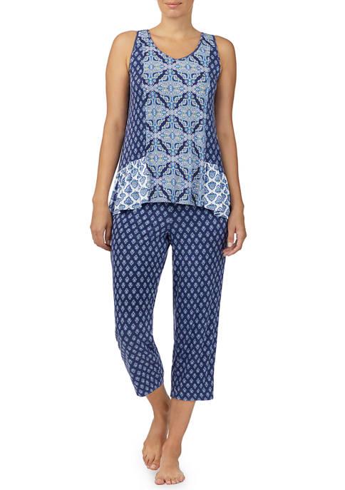 Ellen Tracy Sleeveless Cropped Pajama Set