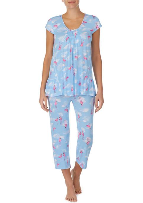 Ellen Tracy 2 Piece Capri Pajama Set